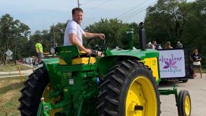 Dr. A riding tractor