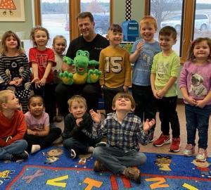 Dr Anderson at Preschool